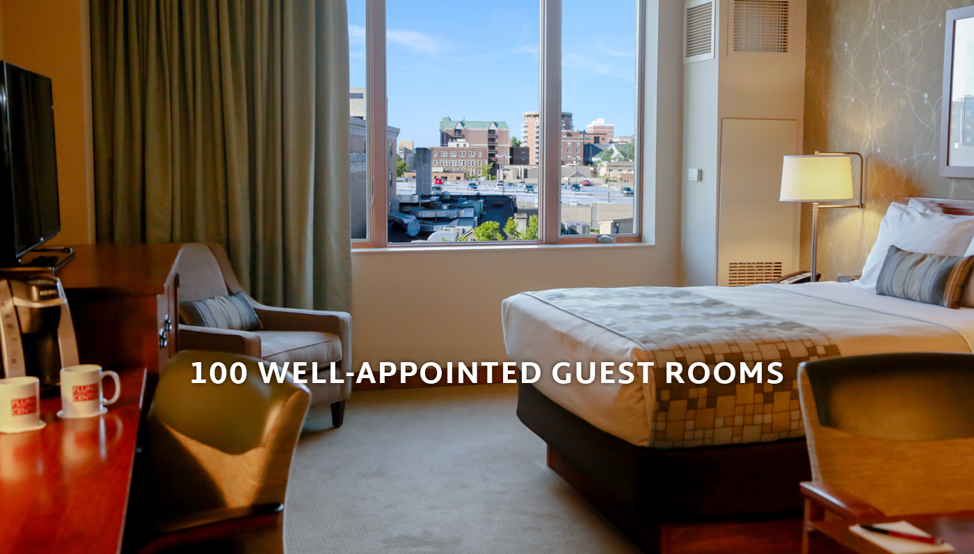 100 Well Appointed Guest Rooms